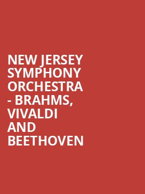 New Jersey Symphony Orchestra - Brahms, Vivaldi and Beethoven at Community Theatre